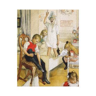 Jour de Noël dans la crèche Toile
