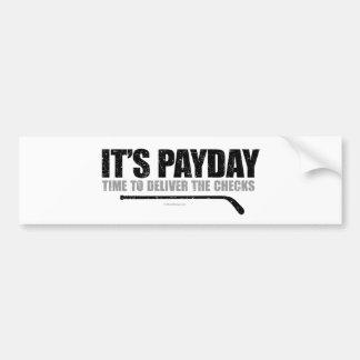 Jour de paie #3 d'hockey autocollant pour voiture