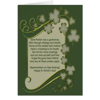 Jour de Patricks de saint Carte De Vœux