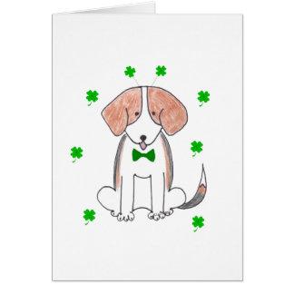 Jour de Patricks de saint de beagle Carte De Vœux