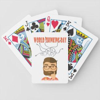 Jour de pensée du monde - jour d'appréciation jeux de cartes