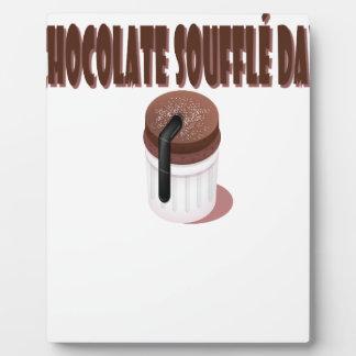 Jour de soufflé de chocolat - jour d'appréciation photos sur plaques