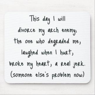 Jour de souvenir de divorce tapis de souris