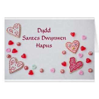 Jour de St Dwynwen heureux Carte De Vœux