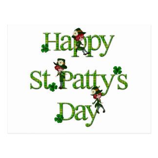 Jour de St Patty heureuse Carte Postale