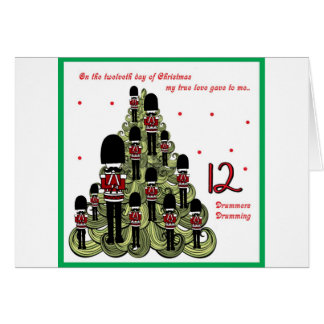 Jour de Twelveth de Noël Carte De Vœux