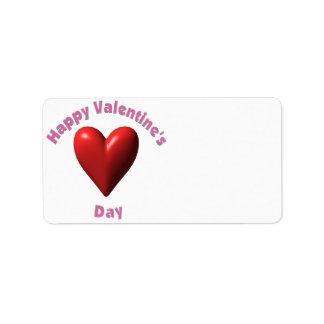Jour de Valentines heureux Étiquette D'adresse