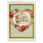 Jour de Valentines vintage Cartes De Vœux