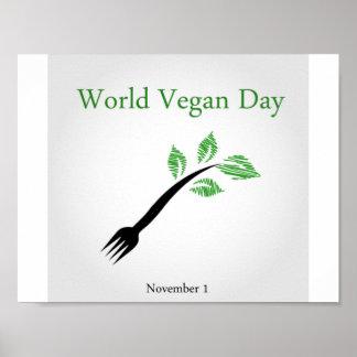 Jour de végétalien du monde poster