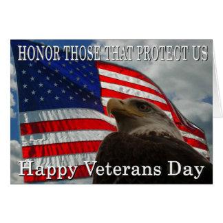 Jour de vétérans de drapeau d'Eagle Carte De Vœux