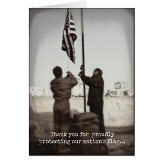 Jour de vétérans de Merci/protection de notre Carte De Vœux