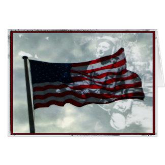 Jour de vétérans, drapeau américain et vétéran de cartes