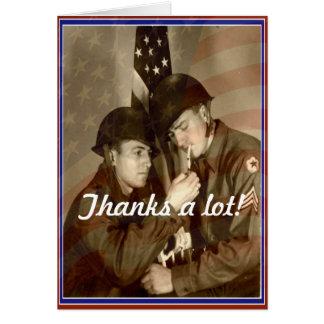 Jour de vétérans vintage, merci beaucoup ! - Carte