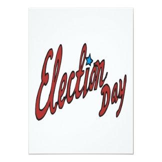 Jour d'élection carton d'invitation  12,7 cm x 17,78 cm