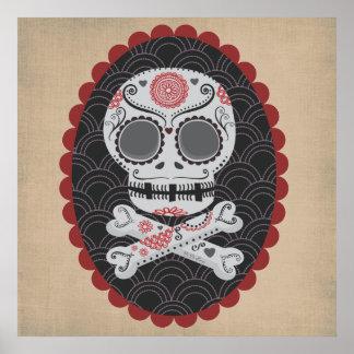Jour des calaveras morts de Skull Día de los Muert Poster
