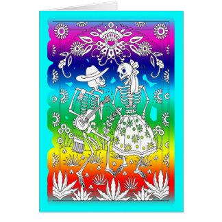 Jour des morts, festival carte de vœux