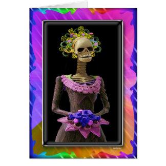 Jour des morts, jeune mariée carte de vœux
