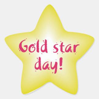 Jour d'étoile d'or sticker étoile