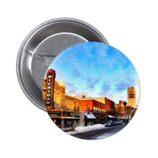Jour d'hiver à Ann Arbor Badge Avec Épingle