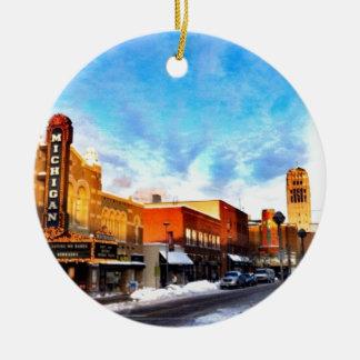 Jour d'hiver à Ann Arbor Ornement De Noël