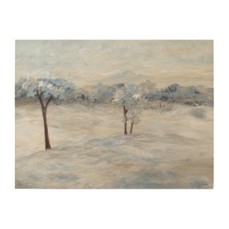 Jour d'hiver bleu impressions sur bois