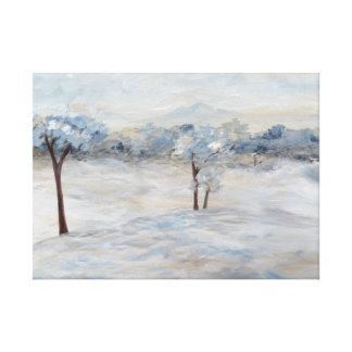 Jour d'hiver bleu toiles
