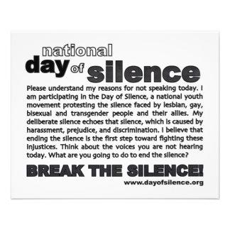 Jour d'insecte de silence ! prospectus en couleur