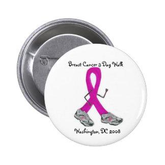 Jour du cancer du sein 3 - Washington, C.C Badge Rond 5 Cm
