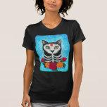 Jour du chat mort, chemise d'art de chat de crâne t-shirt