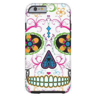 Jour du crâne mort de sucre - couleur multi coque iPhone 6 tough