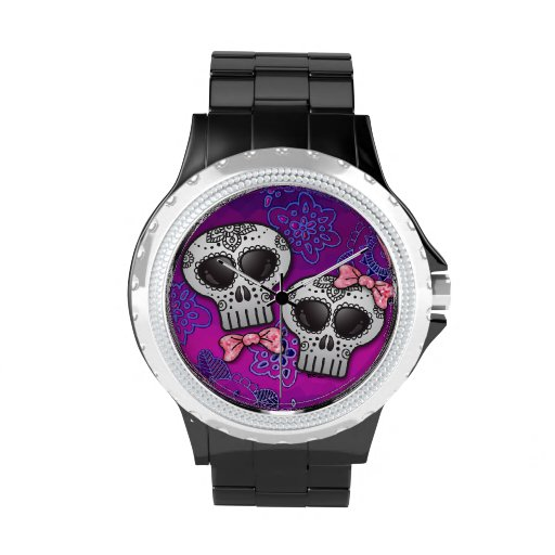 Jour du Halloween mort Skull Dia de los Muertos Montres Cadran