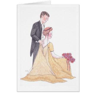 Jour du mariage carte de vœux