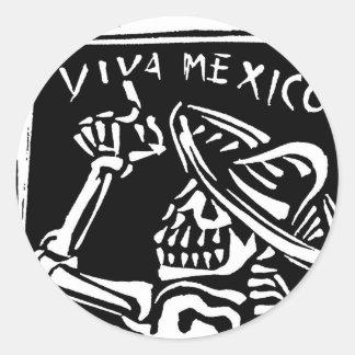 """Jour du Mexique Mexique de vivats """"du mort """" Sticker Rond"""