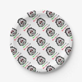 Jour du panda mort assiettes en papier
