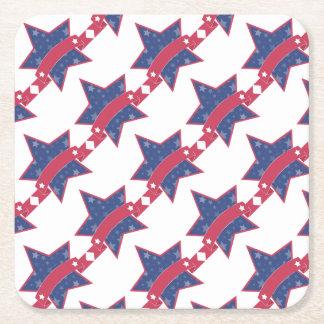 Jour du Souvenir - étoile Dessous-de-verre Carré En Papier