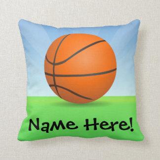 Jour ensoleillé de basket-ball des sports de coussins carrés