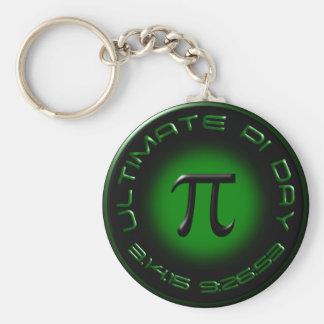 Jour final 2015 de pi 3.14.15 9h26 : 53 (vert) porte-clé rond