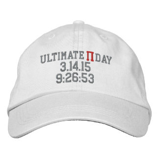 Jour final 2015 de pi casquette brodée