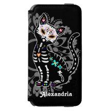 Jour Girly de la coutume mignonne morte de chat Coque-portefeuille iPhone 6 Incipio Watson™