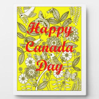 Jour heureux 2 du Canada Impressions Sur Plaque
