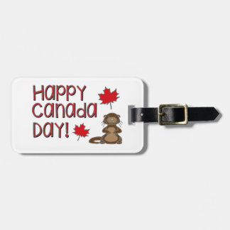 Jour heureux 3 du Canada Étiquette À Bagage