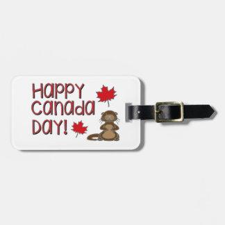 Jour heureux 3 du Canada Étiquette Pour Bagages