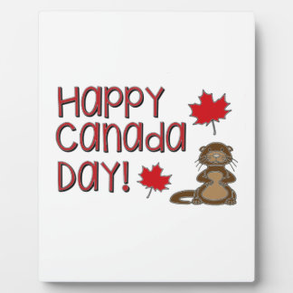 Jour heureux 3 du Canada Plaque D'affichage