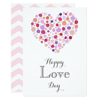 Jour heureux d'amour - carte de Saint-Valentin Carton D'invitation 12,7 Cm X 17,78 Cm