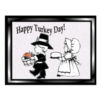 Jour heureux de la Turquie d'enfants de pèlerin - Carte Postale