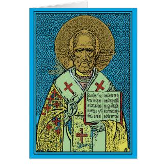 Jour heureux de Saint-Nicolas ! Carte De Vœux