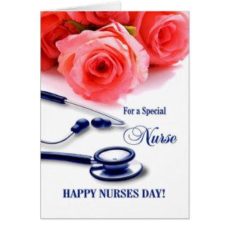 Jour heureux d'infirmières. Carte de voeux
