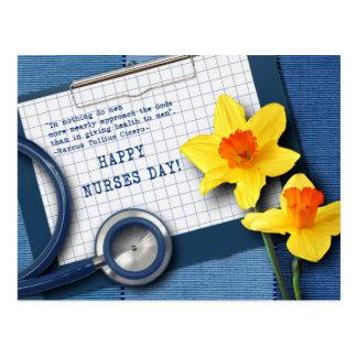 Jour heureux d'infirmières. Cartes postales