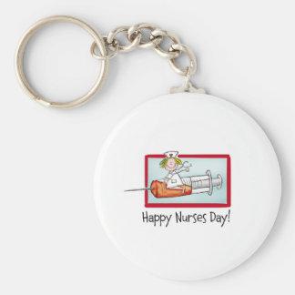 Jour heureux d'infirmières porte-clefs