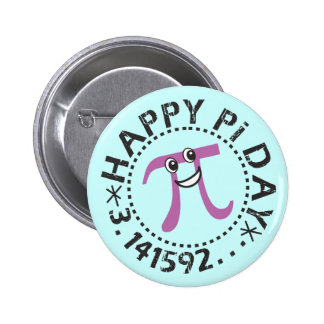 Jour heureux mignon de pi - cadeau portable de badges